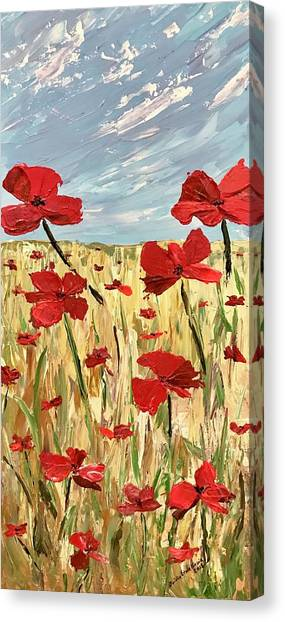 Among The Poppies     1 Of 2 Canvas Print