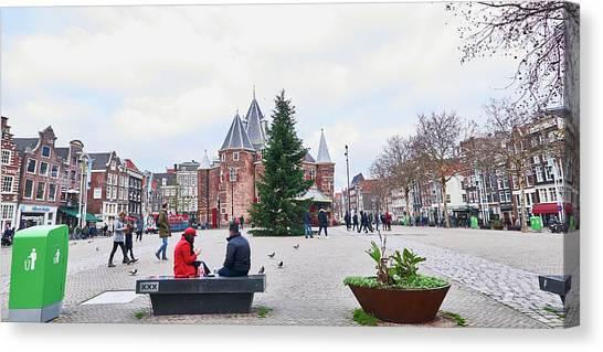 Amsterdam Christmas Canvas Print