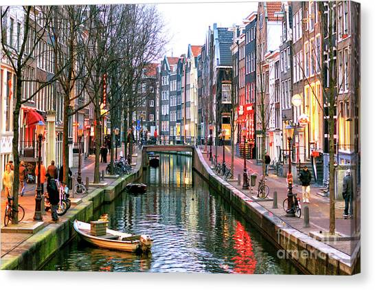 Amsterdam Red Light District Days Canvas Print
