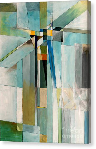 Abstraction Canvas Print - An Abstract Painting by Clivewa