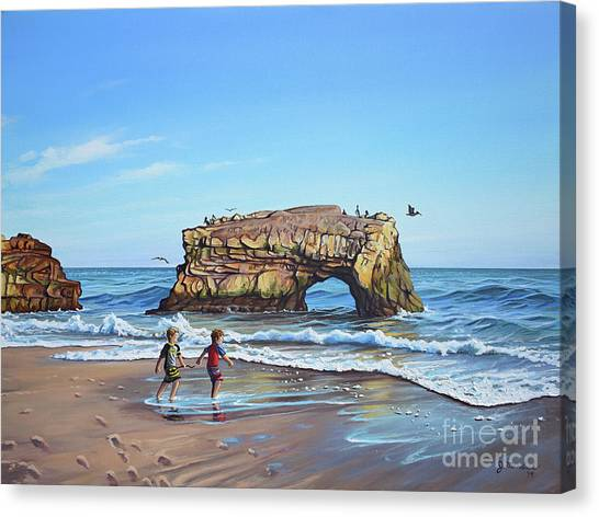 An Adventure On The Beach Canvas Print