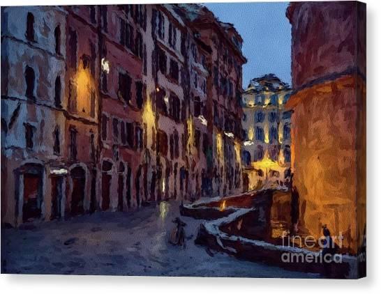 Paris Skyline Canvas Print - An Evening In Rome by Sarah Kirk