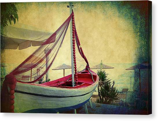 Canvas Print featuring the photograph an Old Boat by Milena Ilieva