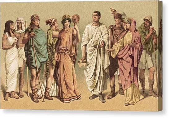 Ancient Costumes Canvas Print