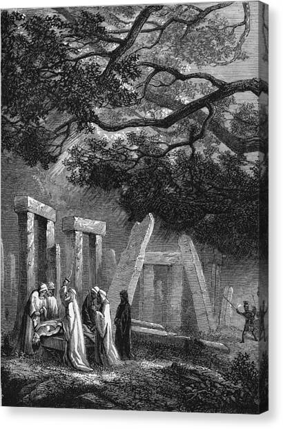Ancient Druidic Rite Canvas Print by Kean Collection