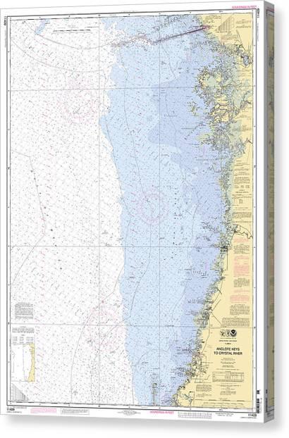 Anclote Keys To Crystal River Noaa Nautical Chart 11409 Canvas Print