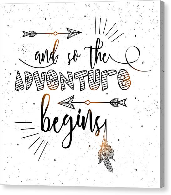 And So The Adventure Begins - Boho Chic Ethnic Nursery Art Poster Print Canvas Print