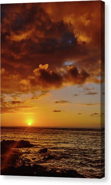 And Then The Sun Set Canvas Print