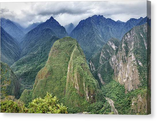 Canvas Print featuring the photograph Andes Overlook by Jon Exley