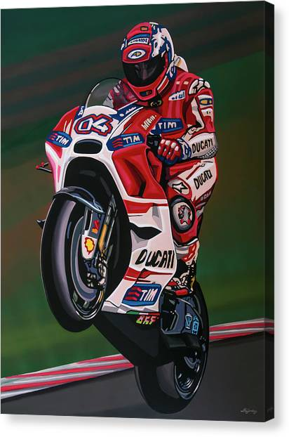Motorcycle Canvas Print - Andrea Dovisiozo Painting by Paul Meijering