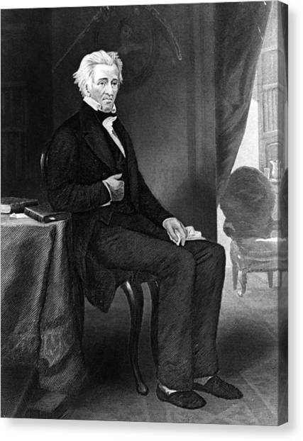 Andrew Jackson Canvas Print by Hulton Archive