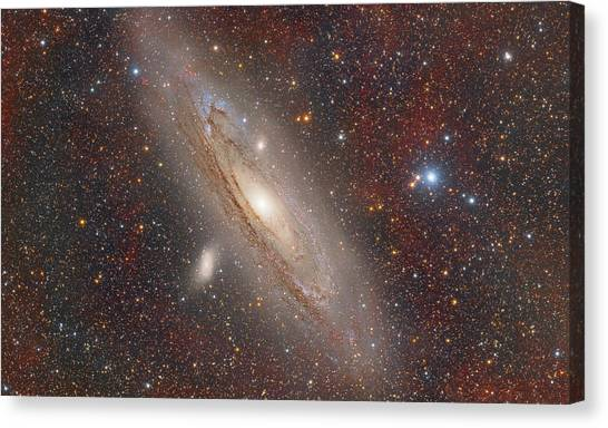 Andromeda With Hydrogen Clouds Canvas Print