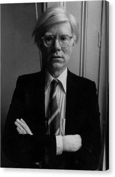 Andy Warhol Canvas Print by John Minihan