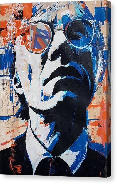 Warhol Canvas Print - Andy Warhol by Paul Lovering