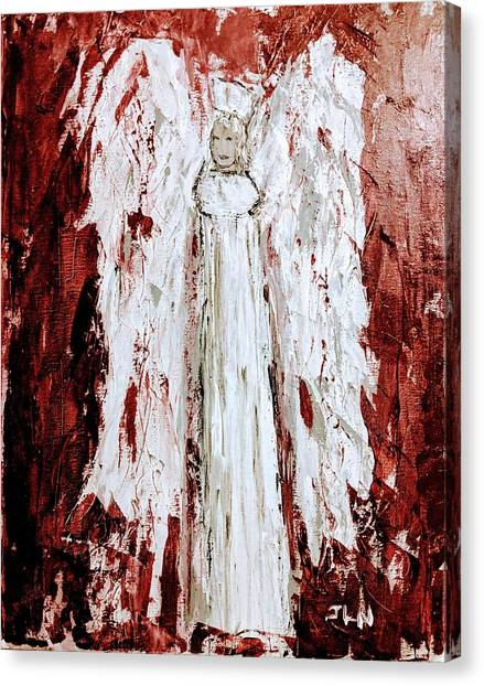 Angel Against Violence Canvas Print