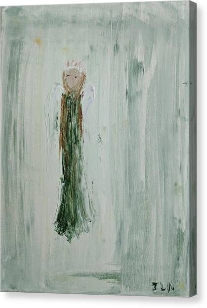Angel In Green Canvas Print