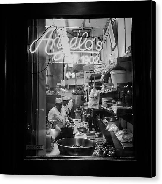 Angelo's Of Mulberry Street Canvas Print by Michael Gerbino