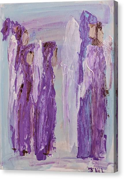Angels In Purple Canvas Print