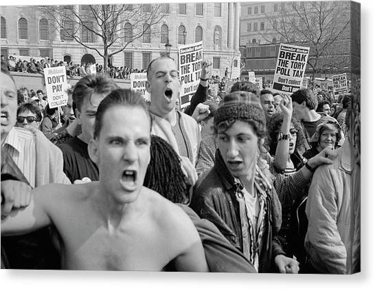 Placard Canvas Print - Angry Protest by Steve Eason