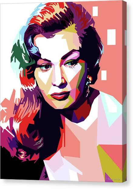 Anita Ekberg Pop Art Canvas Print