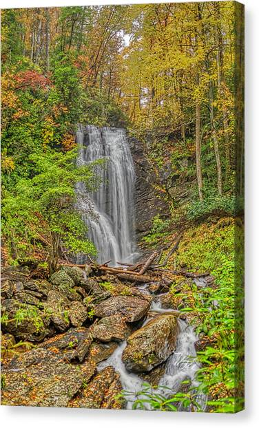 Anna Ruby Falls Left Canvas Print