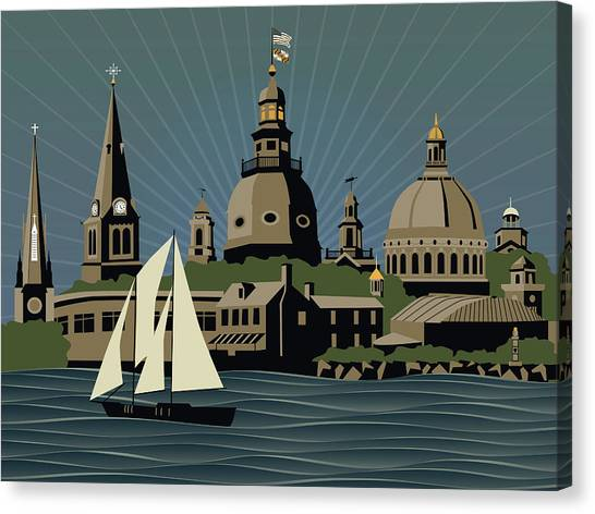 Annapolis Steeples And Cupolas Serenity Canvas Print