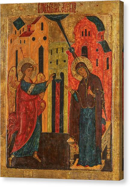 The Annunciation Canvas Print - Annunciation, 17th Century by Russian Art
