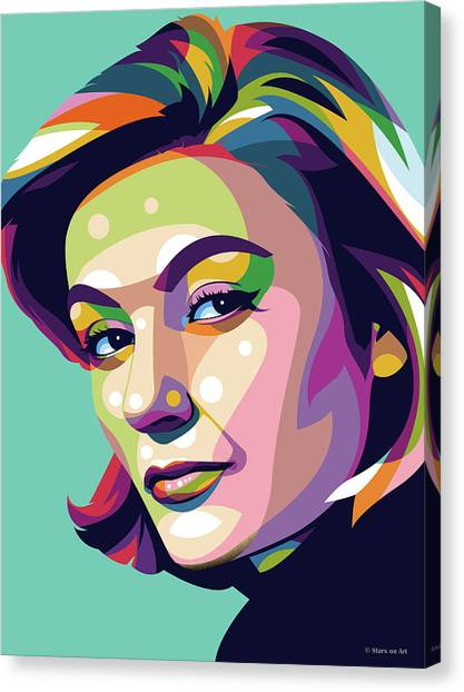 French Canvas Print - Anouk Aimee by Stars-on- Art