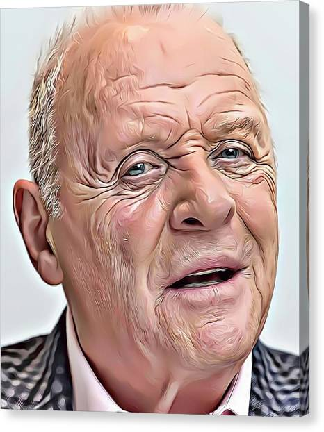 Anthony Hopkins Canvas Print - Anthony Hopkins by Russ Carts