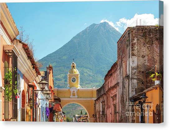 Canvas Print featuring the photograph Antigua Guatemala by Tim Hester