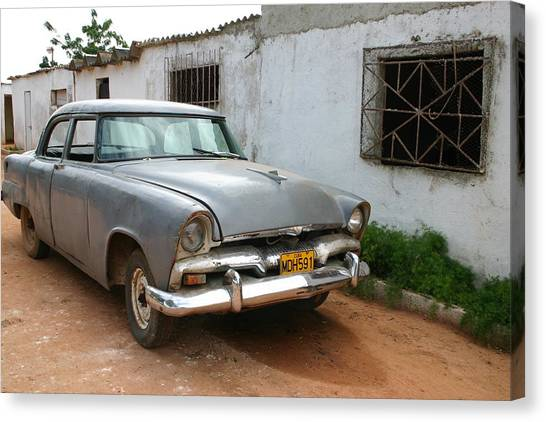 Antique Car Grey Cuba 11300501 Canvas Print