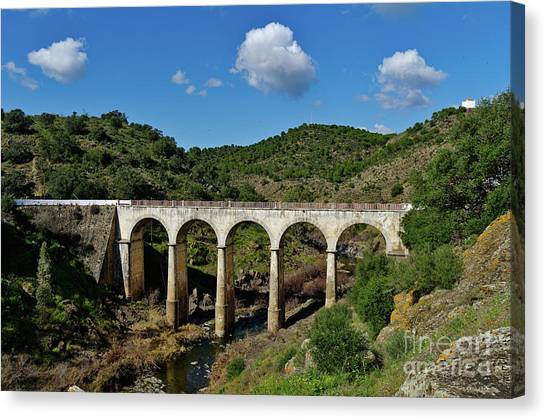 Antique Mertola's Bridge In Alentejo Canvas Print