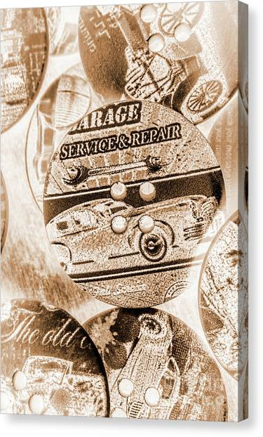 Historic Route 66 Canvas Print - Antique Service Industry by Jorgo Photography - Wall Art Gallery