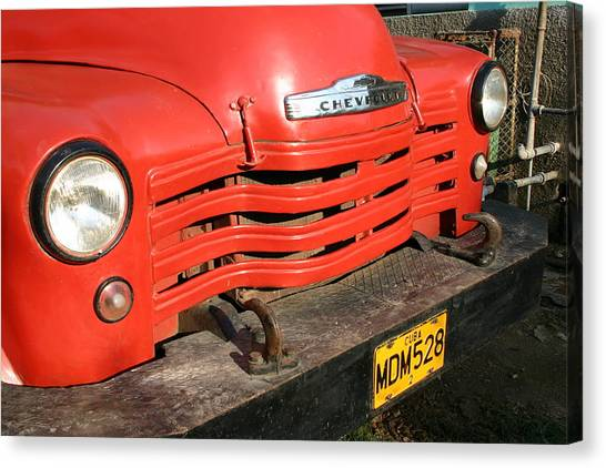 Antique Truck Red Cuba 11300502 Canvas Print