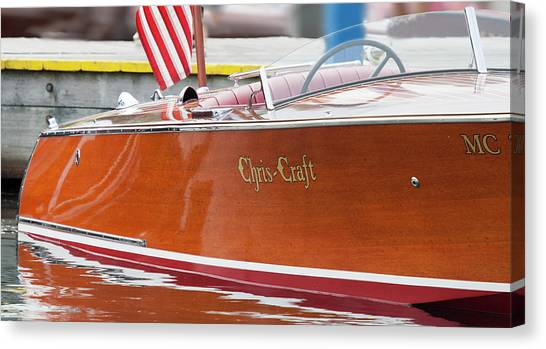 Antique Wooden Boat 1305 Canvas Print