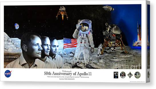 Todd Krasovetz Canvas Print - Apollo 11 Collectable - Nasa 50th Anniversary Of The Lunar Landing by Todd Krasovetz