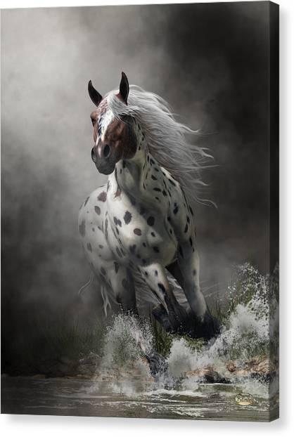 Canvas Print featuring the digital art Appaloosa by Daniel Eskridge