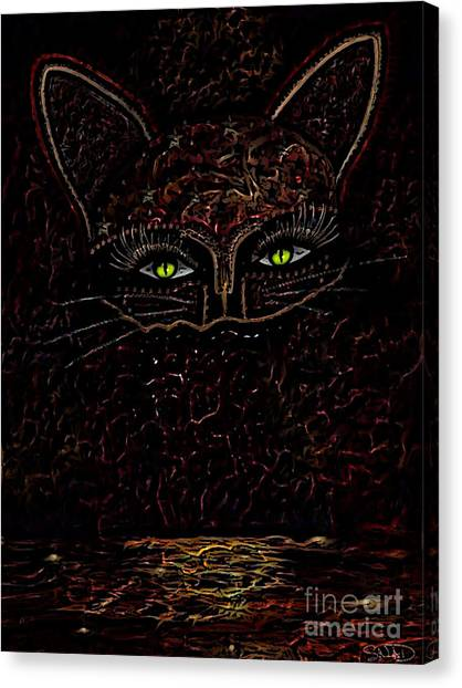 Appearance Of The Mystic Cat Canvas Print
