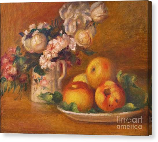 State Hermitage Canvas Print - Apples And Flowers by Peter Barritt