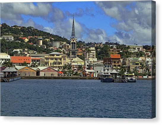 Canvas Print featuring the photograph Approaching Fort De France by Tony Murtagh