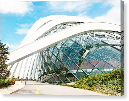 Mall Canvas Print - April 6, 2014  Singapore. Building In by Anna Klepatckaya
