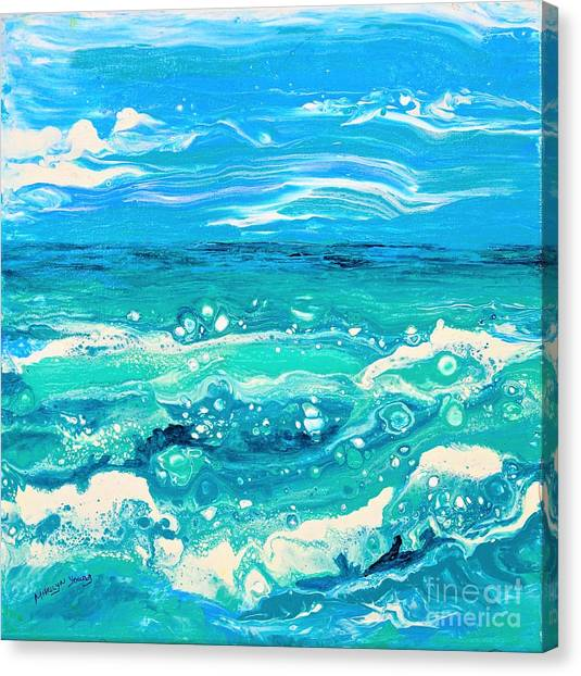 Aqua Seafoam Canvas Print