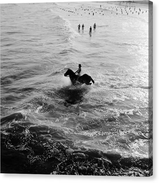 Aquatic Equestrian Canvas Print