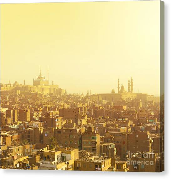 Fortification Canvas Print - Arabian City In Yellow Gamma. Cairo by Dudarev Mikhail