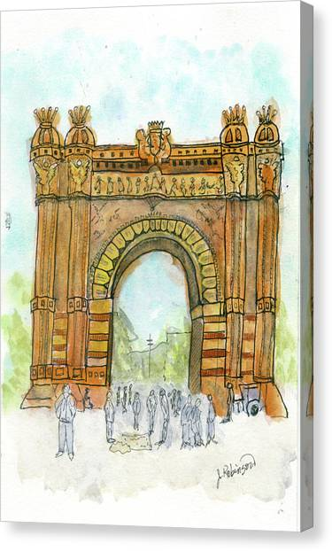Arc De Triompf, Barcelona Canvas Print