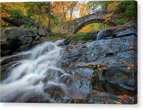 Canvas Print featuring the photograph Arch Bridge At Vaughan Woods by Rick Berk