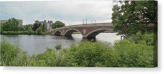 Canvas Print - Arch Bridge Over River, Cambridge by Panoramic Images