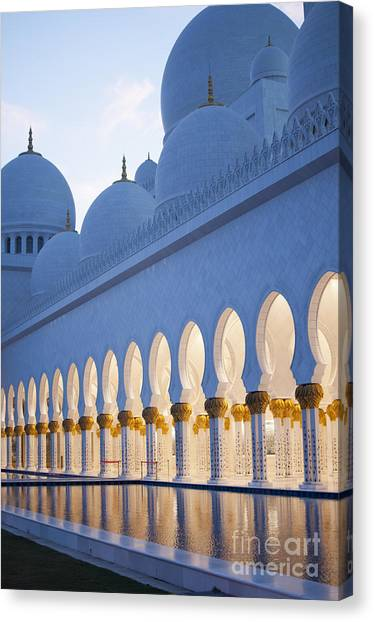 Worship Canvas Print - Arches Of Grand Mosque Of Abu Dhabi by Ahmad A Atwah