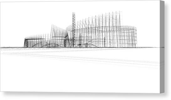 Architecture Blueprint Canvas Print