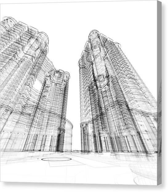 Architecture Sketch Canvas Print
